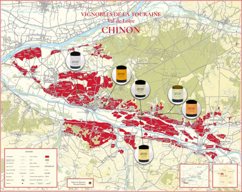 Carte AOC Chinon