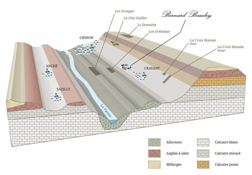 Geological section of our vineyard